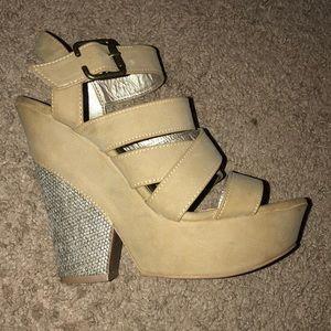 Charlotte Russe Tan Heels